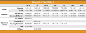 Services Timetable